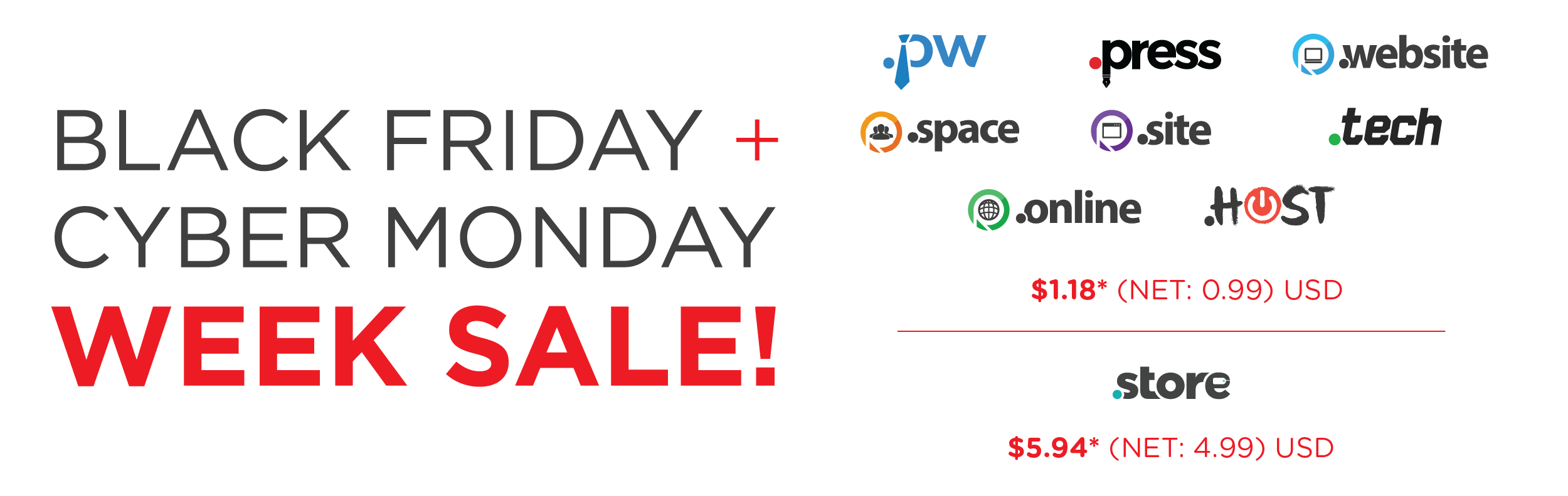9d51882a3 Black Friday / Cyber Monday Week Sale